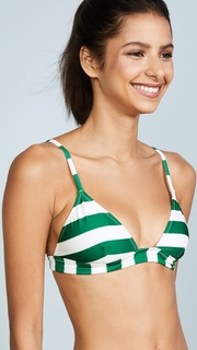 Solid & Striped The Morgan Emerald Stripe Bikini Top