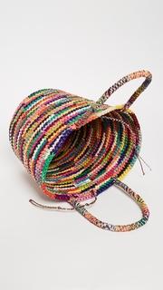 Sensi Studio Medium Straw Multicolor Tote