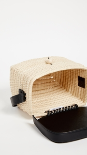 Sensi Studio Structured Straw Handbag