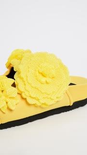 Suecomma Bonnie Flower Embellished Mesh Slides