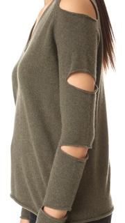 360 SWEATER Tyrone Cutout Cashmere Sweater