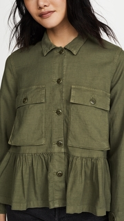 THE GREAT. The Flutter Army Jacket