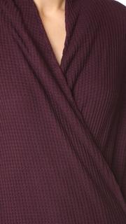 Three Dots Thermal Shawl Collar Top