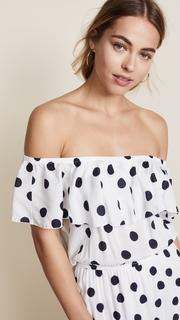 Three Dots Dot Voile Maxi Dress