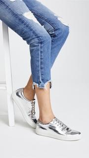 Tortoise Savanna Cropped Slim Straight Jeans