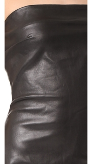 ThePerfext Strapless Leather Dress