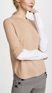 Veronica Beard Roscoe Mixed Media Sweater