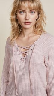 Velvet Texas Lace Up Sweater