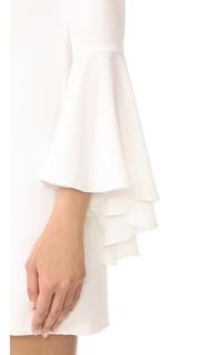 WAYF One Shoulder Bell Sleeve Dress