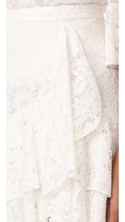 WAYF Clark Ruffle Skirt