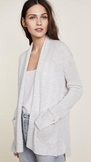 White + Warren Patch Pocket Cardigan Robe