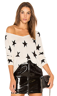 Red rock linen star sweater - Central Park West