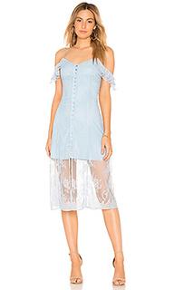 Кружевное миди платье whit oak - MAJORELLE