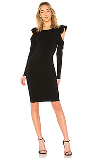 Cut out flounce fitted sheath - MILLY