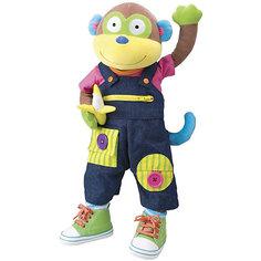 """Мягкая развивающая игрушка """"Учимся одеваться с обезьянкой"""", Alex"""