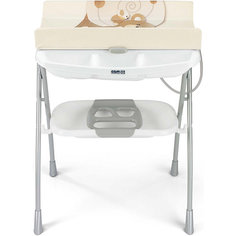 Пеленальный столик с ванночкой Volare, Мишка, CAM,  бежевый