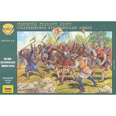 Сборная модель  Средневековая крестьянская армия Звезда