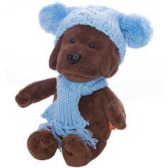Мягкая игрушка Orange Щенок Кроха в голубой шапочке, 20 см