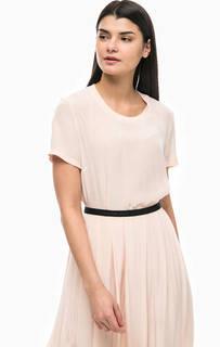 Однотонная блуза из вискозы Calvin Klein Jeans