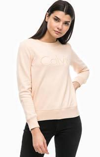 Свитшот с объемной вышивкой Calvin Klein Jeans