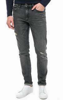 Рваные серые джинсы Calvin Klein Jeans
