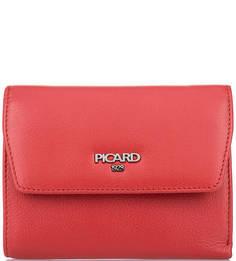 Красный кошелек из натуральной кожи Picard