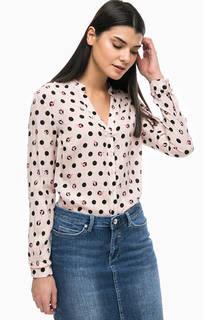 Блуза из вискозы в горошек More & More