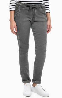 Серые брюки из денима More & More