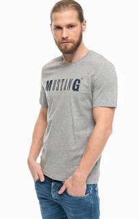 Хлопковая футболка с короткими рукавами Mustang