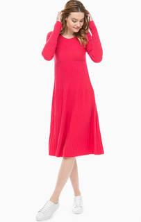 Вязаное платье цвета фуксии Marc Opolo