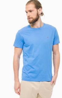 Синяя хлопковая футболка Gant