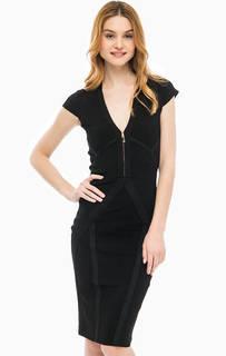 Приталенное платье с металлизированной нитью Marciano Guess