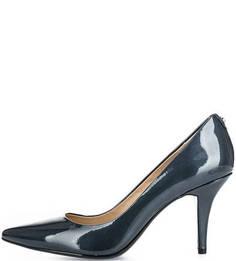 Синие лаковые туфли-лодочки Michael Michael Kors