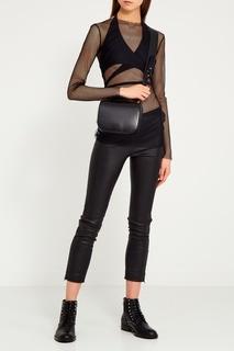 Черная блузка из сетки Iselin Bodypoetry