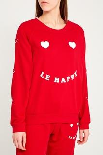 Красный хлопковый свитшот с принтом Zoe Karssen