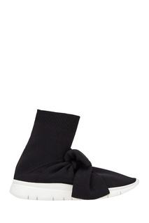 Черные текстильные кроссовки с бантом Joshua Sanders