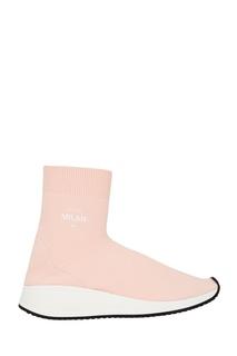 Розовые текстильные кроссовки Joshua Sanders