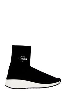 Черные текстильные кроссовки Joshua Sanders