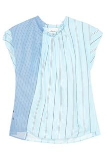 Голубая блузка в полоску 3.1 Phillip Lim