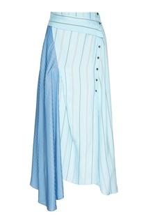 Асимметричная юбка в полоску 3.1 Phillip Lim