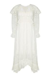 Шелковое платье с драпировками Zimmermann