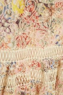 Хлопковое платье-мини с вышивкой Zimmermann