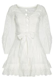 Платье из вышитого льна Zimmermann