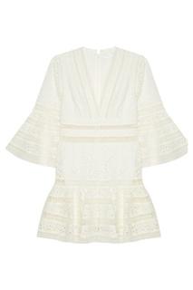 Белое вышитое платье Zimmermann