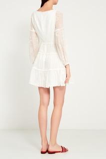 Белое платье из вышитого шелка Zimmermann