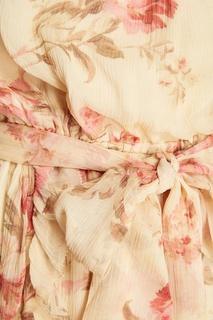 Льняной комбинезон с цветочным принтом Zimmermann