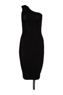 Шерстяное асимметричное платье T by Alexander Wang