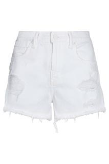 Белые джинсовые шорты T by Alexander Wang