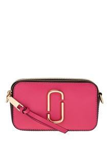 Розовая сумка из сафьяновой кожи Snapshot Marc Jacobs