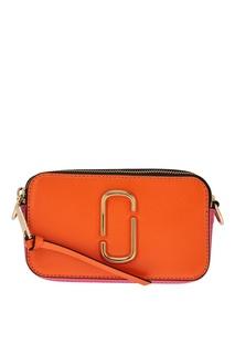 Оранжевая сумка из кожи Snapshot Marc Jacobs